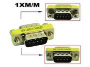 HQmade Serial DB9 9-pin Connector Mini adapter gender changer  M/M Male to Male