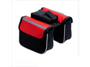 Outdoor Mountain Bike Saddle Bag Bicycle Pouch Front Tube Cycling Frame Pannier Red