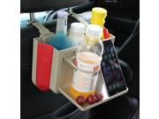 Multifunctional Folding Car Seat Back Water Cup Holder Storage Box Drinks Stand  Beige Color 9SIA6JS5J05508