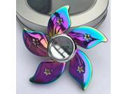 Rainbow Flower Fidget Hand Spinner Alloy ADHD Relieve Stress Finger Toy
