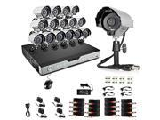 Zmodo Surveillance KDH6-CARCZ6ZN-1T 16Channel H.264 600TVL 1TB HDD 8xIndoor/Outdoor Night Camera Retail