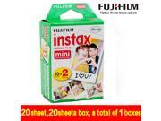 Cheap Original 20pcs box Fujifilm instax mini film 20 sheets white Edge 3 Inch wide film for Instant Camera mini 8 7s 25 50s 90