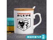 Mug Cup for Geek Glass ceramic mug gift programmer Schrodinger Cat Series 1 simple Creative Cup