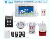 Friendly interface 7 inch touch screen burglar alarm system with Detailed menu Smart IOS Android APP GSM PSTN alarm system