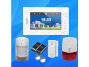 Advanced smart 7 inch touch screen home security 868MHZ GSM alarm system with lithium battery multi language Android IOS APP