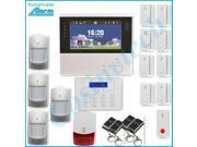 868mhz Smart  home alarm with 7 inch touch screen security alarm system, lithium battery dual-network GSM PSTN alarm system