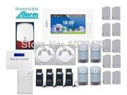 Customized home alarm system Smart IOS Android APP,7 inch touch screen 850/900/1800/1900MHz Wireless 868MHZ GSM  Alarm System