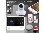 100% original G90B WiFi Alarm GPRS Wifi home security GSM Alarm System+SMS alarm support IP camera+fire alarm smoke senser