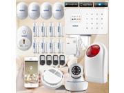WIFI GSM alarm LCD Touch Screen Alarm GSM SMS Home Security Burglar Fire Alarm System APP Control +wireless wifi ip camera 9SIA6M85327623