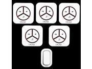 New Waterproof Plug in Wireless Door Bell Push Button with 1 Outdoor Transmitter 5 Indoor Wireless Doorbell Receiver
