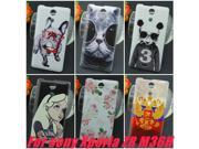 ZR M36H C5502 C5503 cell phone case Russian flag Cat Dog pattern hard case for sony Xperia ZR M36H C5502 C5503
