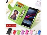 For Sony Xperia Z Leather Case With Plastic Holder PU Flip Wallet Cover For Sony Xperia Z L36H L36i L36 C6603 C6602 Phone Cases