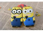 Cute Cartoon Despicable Me Minions Pattern Soft Silicon Case for Sony Xperia Z L36H C6603 Phone Bag Case