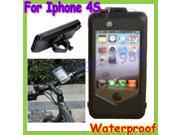 + 2014 Newest Waterproof Bike Bicycle Phone Case Bag Pouch Mount Holder for iPhone 4 4S Shockproof Handle Bar Case