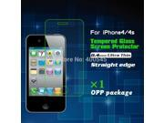 9H 0.4mm Ultra Thin HD Clear Tempered Glass Screen Protector Explosion-proof Protective Film for iPhone 4 4s 9SIAAWS46N1386