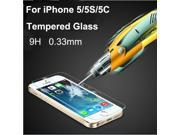 0.33mm Ultra Thin HD Clear Explosion-proof Tempered Glass Screen Protector Cover Guard Film for iPhone 5 5C 5S 9SIAAWS46N1408