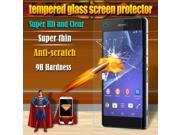 Tempered glass For Sony Xperia Z2 screen protector HD clear film ultra thin film for sony D6503 D6502 L50W 9SIAAWS46N1086