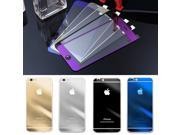 New Tempered Glass Mirror Effect Color Back Screen Protector For iphone 6 9SIAAWS46N1120