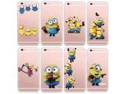 Latest Silicon Cover Despicable Me Yellow Minion Case For Apple iPhone 5 5s/6 6s Soft Clear Phone Cases Shell 9SIAC8552G5286