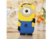 3D cartoon model silicon material Despicable Me Yellow Minion Cover cute phone Case for iphone 6 small yellow people 9SIAC5C5AF6512