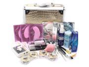 25 in 1 Professional Eyelash Extension Mink False Eye Lash Lashes Glue Removal Mascara Full Kit Super Set with Fashion Gold Hard Case Suitcase A158