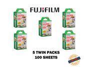 Fujifilm Instax Mini Twin Pack Instant Film 5 Twin Packs - 100 Sheets
