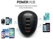 Wavlink 4-Port USB Charging Station Travel Charger USB charger Quick charging port- Simultaneous Charge for Tablets, Smartphones or Mobile Devices-Black