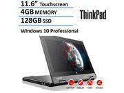 2016 New Lenovo Thinkpad Yoga 2-in-1 Convertible 11.6-inch IPS Touchscreen Laptop(Tablet), Intel Quad Core Processor, 4GB DDR3L, 128GB SSD, HDMI, Bluetooth, Webcam, AC Wifi, Windows 10 Professional