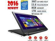 2016 Newest Asus Flip 2-in-1 15.6-inch High Performance Touchscreen convertible Laptop or Tablet, Intel Core i7-5500U(4M Cache, up to 3GHz), 8GB DDR3, 1TB HDD, DVD RW, Bluetooth, HDMI, Windows 10