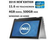 2016 Newest Dell Inspiron 3000 11.6 Inch 2-in-1 Touchscreen Premium High Performance Laptop, Intel Core i3 Processor 1.9 GHz, 4 GB RAM, 500 GB HDD, Bluetooth, HDMI, 11 hrs Battery Life, Windows 10