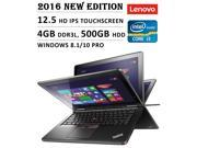 2016 Newest Lenovo ThinkPad Yoga 12 Inch 2-in-1 Touchscreen Premium Ultrabook/Tablet Laptop, Intel Core i3 Processor 2 GHz, 4 GB RAM, 500 GB HDD with 16 GB SSD, 8 hrs Battery Life, Windows 8.1/10 Pro
