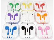 New Earphone Earpods Headset with Remote & Mic For Apple iPhone 5, 5s, 4s, 4, 3GS and iPod in 8 Colors
