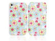 Flower Pattern Flip-open PU Leather Protective Case for iPhone 4/4S ( 39 ) 9SIA6RP2C52025