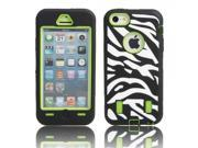 Zebra-stripe Pattern Protective Case for iPhone 5C Green Background