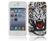 Distinctive Embossed Tiger Head Pattern Protective Case for iPhone 4/4S 9SIA6RP2C52694