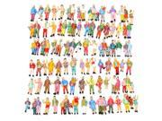 100pcs Mixed Painted Model Trains People Passengers Figures 9SIA6RP2T87436