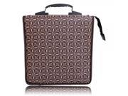 520 Disc PVC Word Pattern CD Storage Bag Coffee