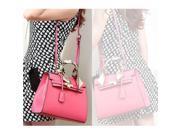 Noble Retro Scarf Handle PU Leather Platinum Women's Handbag Single-shoulder Bag Hot Pink 9SIA6RP2U08370