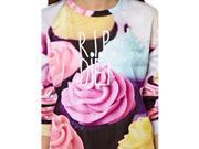 Korean Style Ice Cream Printing Long Sleeve Women Pullover Sweater Free Size 9SIA6RP2U28516