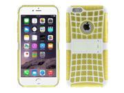 Spider Web Style Detachable Plastic Shell + TPU Combination Case with Holder for iPhone 6(Yellow) 9SIA6RP2VN6134