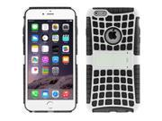 Spider Web Style Detachable Plastic Shell + TPU Combination Case with Holder for iPhone 6(Black) 9SIA6RP2VN6136