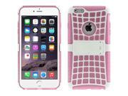 Spider Web Style Detachable Plastic Shell + TPU Combination Case with Holder for iPhone 6(Pink) 9SIA6RP2VN6128