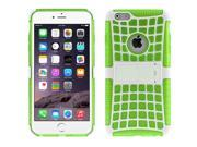 Spider Web Style Detachable Plastic Shell + TPU Combination Case with Holder for iPhone 6(Green) 9SIA6RP2VN6139