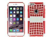 Spider Web Style Detachable Plastic Shell + TPU Combination Case with Holder for iPhone 6(Red) 9SIA6RP2VN6189
