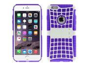Spider Web Style Detachable Plastic Shell + TPU Combination Case with Holder for iPhone 6 Plus(Purple) 9SIA6RP2VP0336