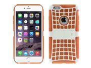 Spider Web Style Detachable Plastic Shell + TPU Combination Case with Holder for iPhone 6 Plus(Orange) 9SIA6RP2VP0351