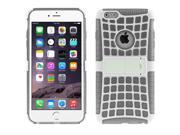 Spider Web Style Detachable Plastic Shell + TPU Combination Case with Holder for iPhone 6 Plus(Grey) 9SIA6RP2VP0410