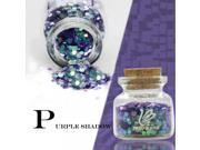 ZERO NANA Environmental Laser Round Dot Sequins Nail Art Decoration Purple 9SIA6RP2VU5917