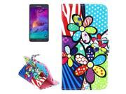 Colorful Flower Pattern Horizontal Flip Leather Case with Holder for Samsung Galaxy Note 4 9SIA6RP2VY2628