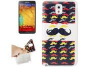 Mustache Pattern TPU Protective Case for Samsung Galaxy Note 3 / N9000 9SIA6RP2VY1418